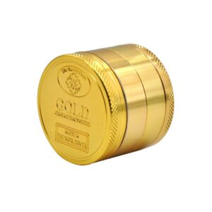 Gold coloured alloy grinder