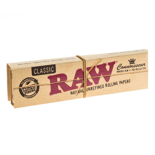 Raw-Classic-Connoisseur-King-Size-Slim-+-Pre-Rolled-Tips-Rolling-Papers