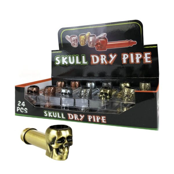 Skull Spider Metal Tobacco Pipe Mixed Colors