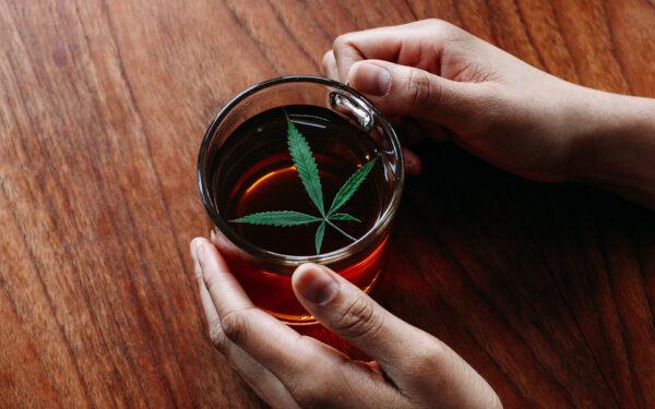 tea cannabis black and green