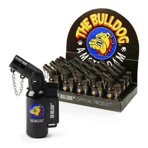 the bulldog flame torch lighter black