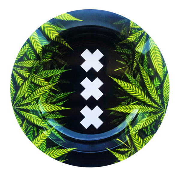 Best Buds – XXX Amsterdam Weed Leaves Metal Ashtray
