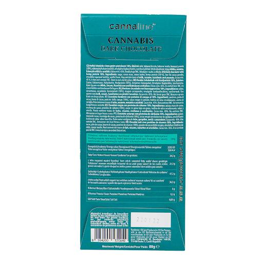 Cannaline Cannabis Dark Chocolate THC Free