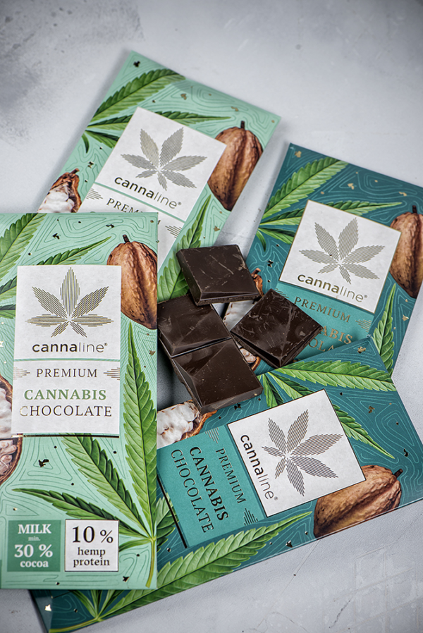 Cannaline Cannabis Milk and Dark Chocolate THC Free