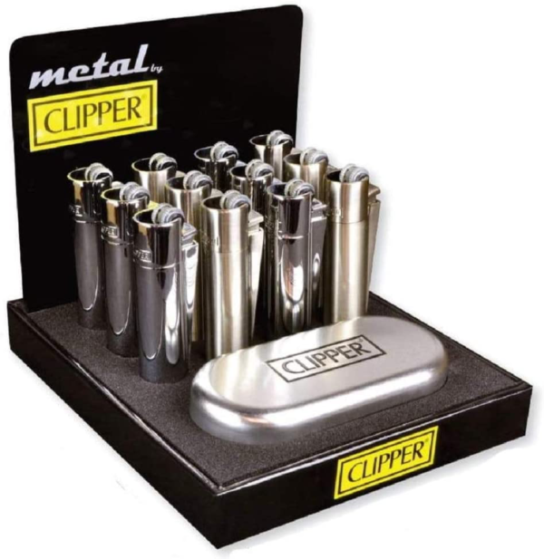 Clipper Silver Metal Lighters
