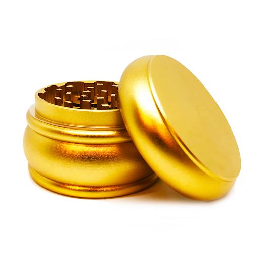 Fat Buddy Gold Aluminium Grinders – 55mm – 4 Parts