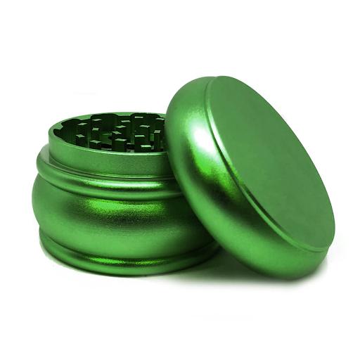 Fat Buddy Green Aluminium Grinders – 55mm – 4 parts