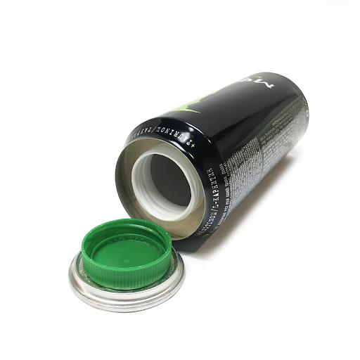 Green Energy Drink AluminiumSmart Stash Can
