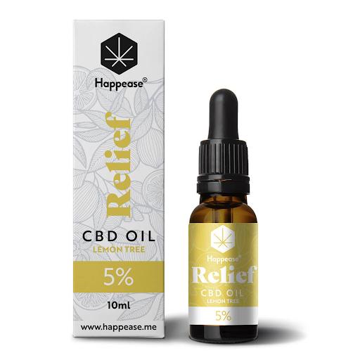 Happease Relief 5% CBD Oil Lemon Tree