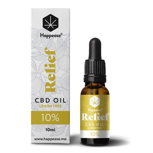 Happease Relief 10% CBD Oil Lemon Tree