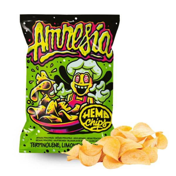 Hemp Chips Amnesia Artisanal Cannabis Chips THC Free