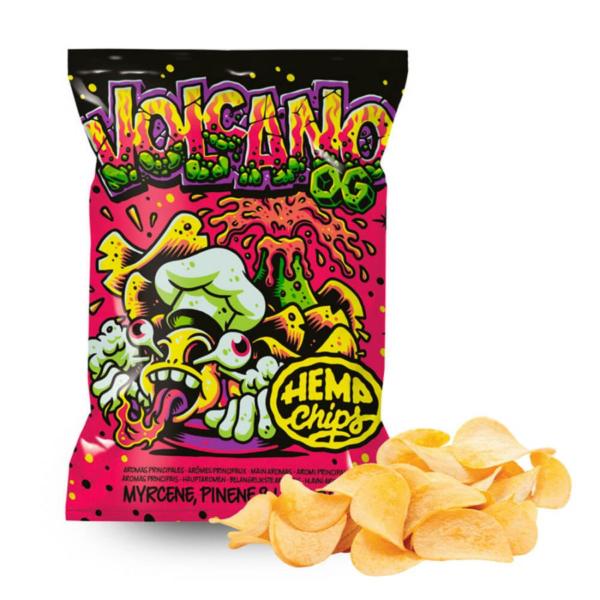 Hemp Chips Volcano OG Artisanal Cannabis Chips THC Free