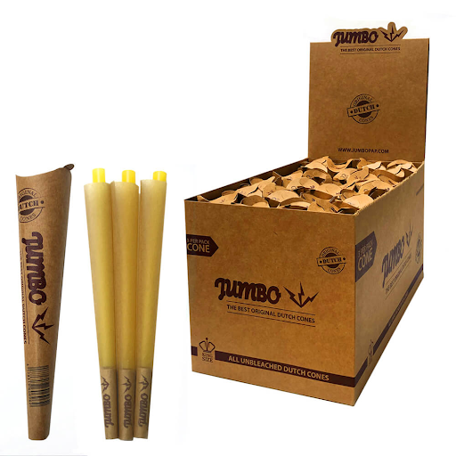 Jumbo King Size Unbleached Cones 3 Cones Per Pack