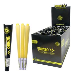 Jumbo King Size Black Cones 3 Cones Per Pack