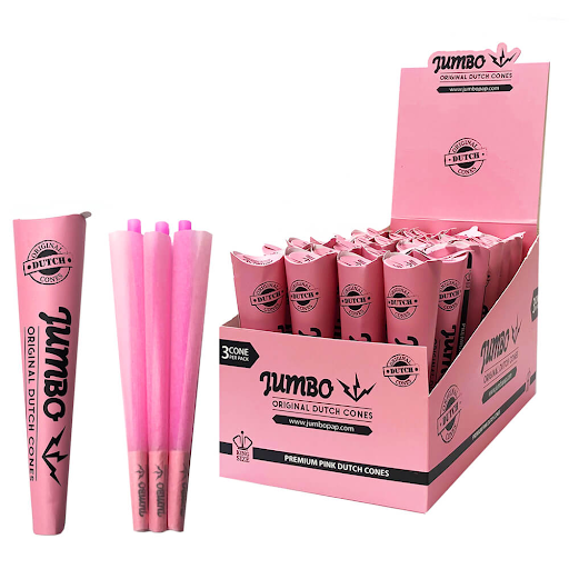 Jumbo King Size Pink Cones 3 Cones Per Pack