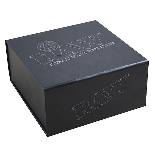 RAW Lead Free Crystal Glass Ashtray Giftbox