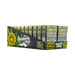 cannabis chewing gum blueberry haze