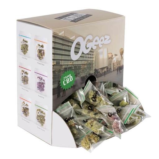 Ogeez Krunchbox Cannabis Shaped Chocolate Small Candies THC Free