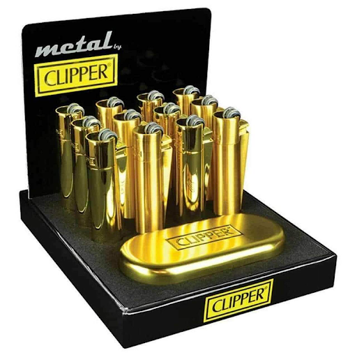 Clipper Gold Metal Lighters