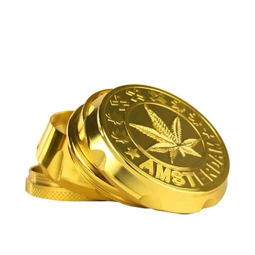 Metal Grinder Amsterdam XXX Gold 4 Parts – 55mm