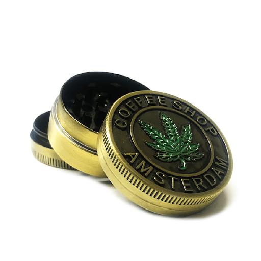 Metal Grinder Gold Leaf 3 Parts – 40mm