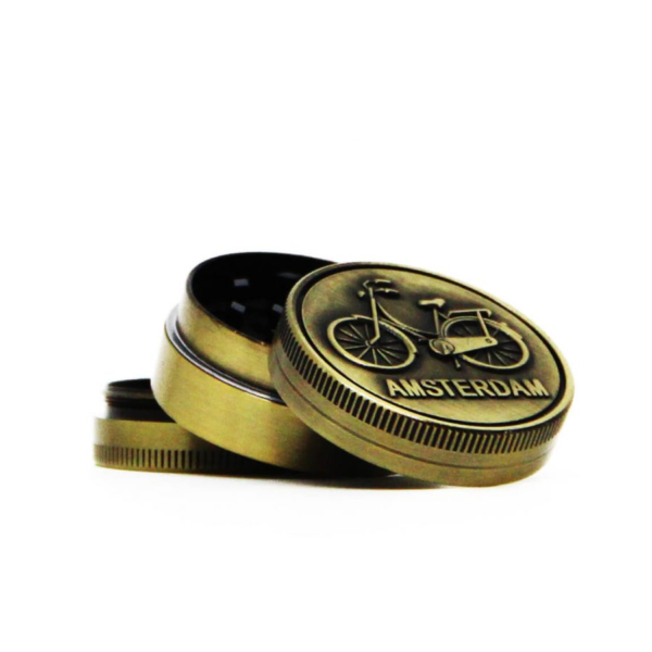 AMSTERDAM BIKE GOLD SMALL METAL GRINDER 40MM - 3 PARTS