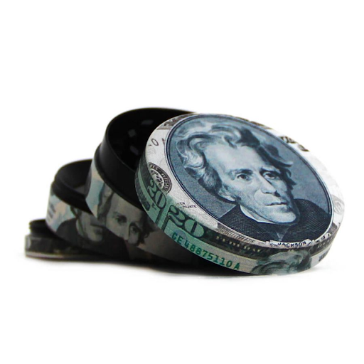 PRESIDENTIAL DOLLER BILLS METAL GRINDERS 52MM- 4 PARTS