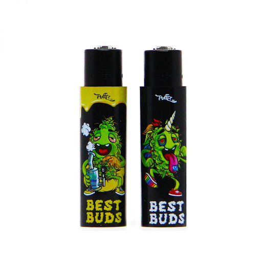 CLIPPER AND BEST BUDS LIGHTER WITH BUILT-IN GRINDER CASE 2