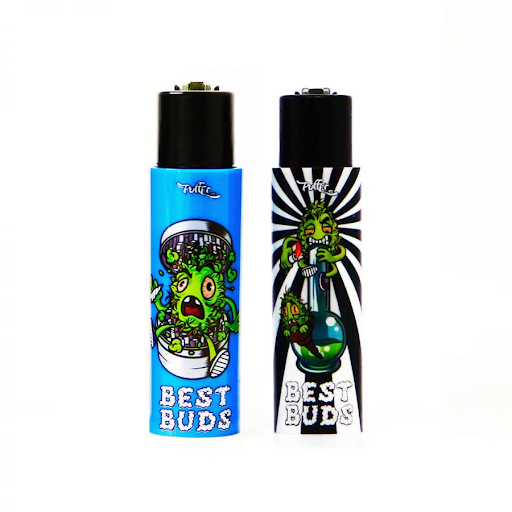 CLIPPER AND BEST BUDS LIGHTER WITH BUILT-IN GRINDER CASE 3