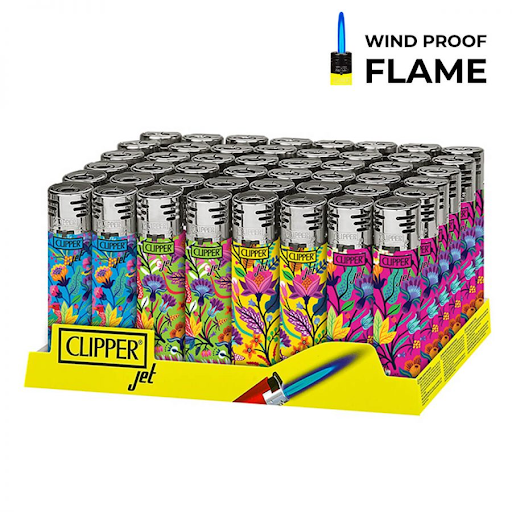 CLIPPER FLORAL PRINT TOUCH LIGHTERS