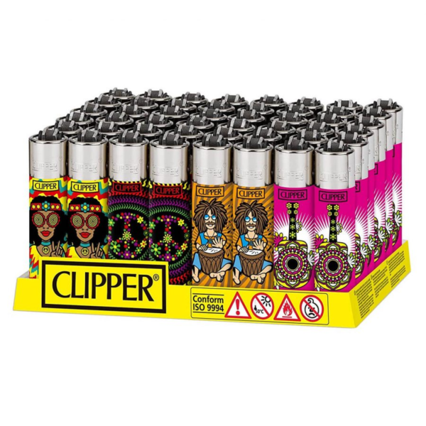 CLIPPER HIPPIE PEACE LIGHTERS