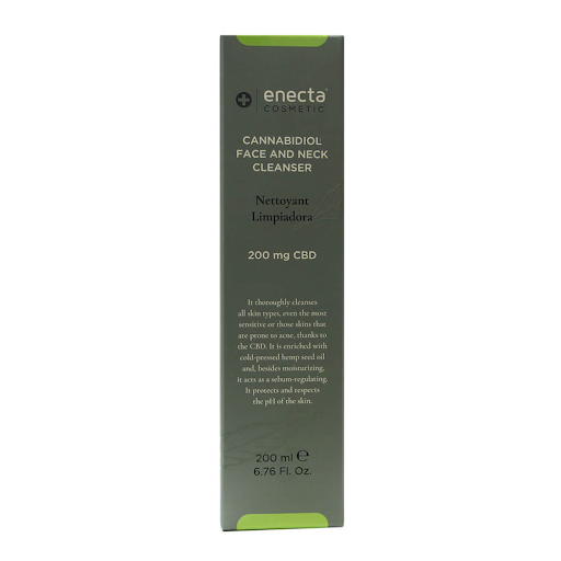 ENECTA 200mg CBD FACE AND NECK CLEANSER 200ml)
