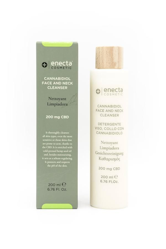 ENECTA 200mg CBD FACE AND NECK CLEANSER 200ml