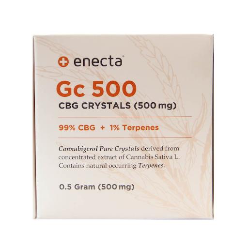 ENECTA GC500 99% CBG CRYSTALS + 1 TERPENES (500mg)