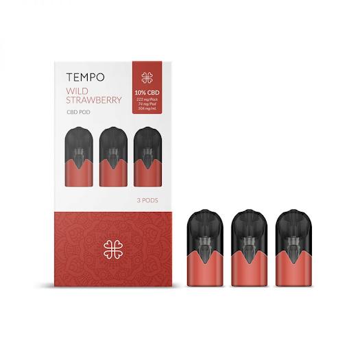HARMONY TEMPO WILD STRAWBERRY 3 PODS 3 PODS PACK 222mg (3x74mg)