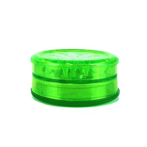 WEED LEAF PLASTIC GRINDER GREEN - 3 PARTS 50MM