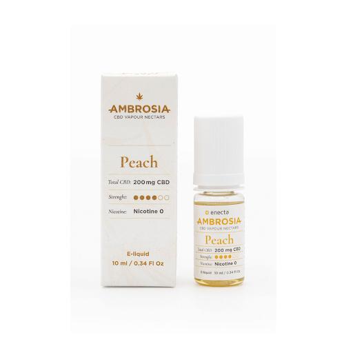 ambrosia cbd e-liquid 200mg peach