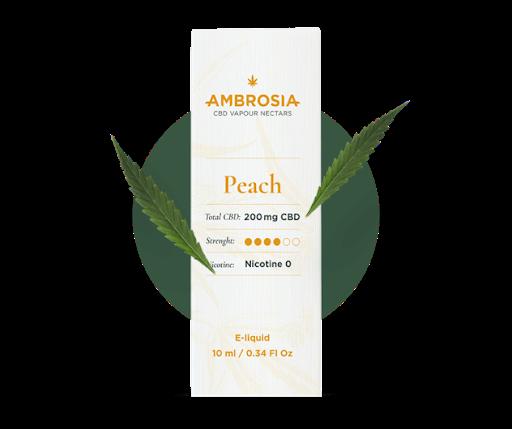 cbd ambrosia e-liquid peach