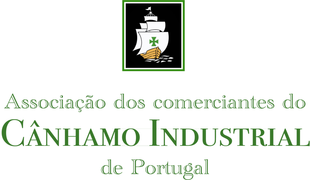 Logo of the Association of Canhamo Industrial de Portugal traders with a caravel boat