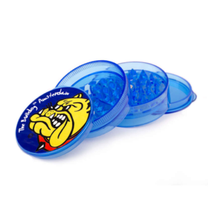 Moedor de plástico azul aberto