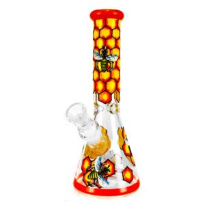 Bongo de vidro artesanal Colméia 25cm
